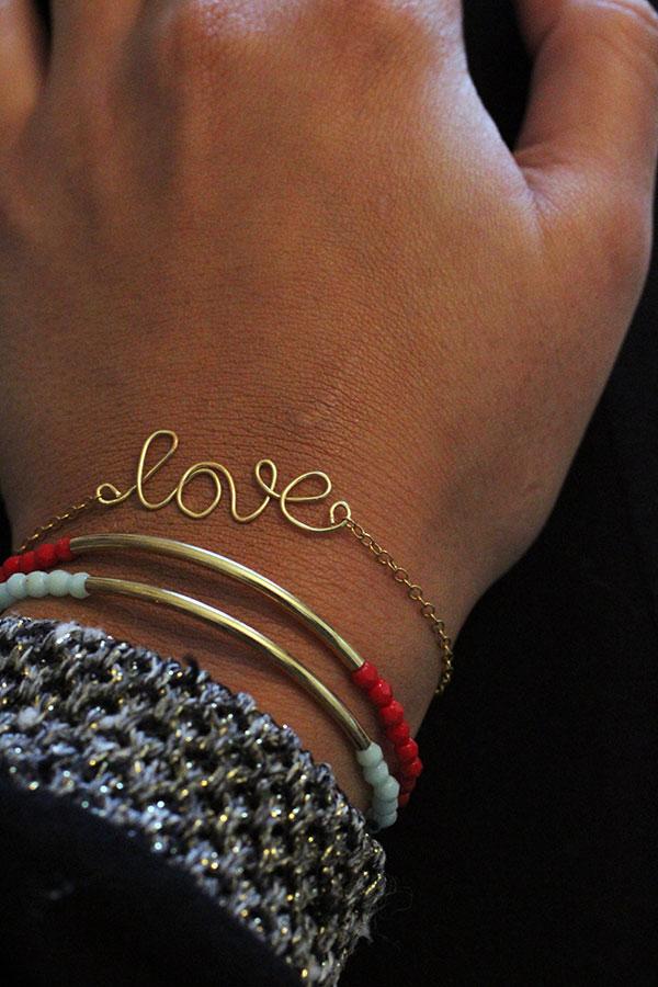 handmade-jewelry-wire-love-bracelet-gold